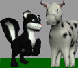 Skunk and Cow