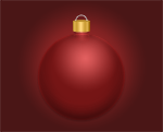 Photo of a red bulb ornament